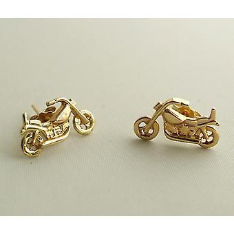 Golden moottoripyörä korvakorut