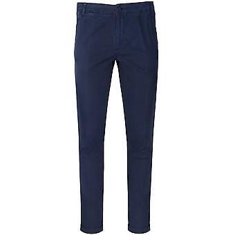 CC Collection Corneliani Marine Blue Moleskin Trousers