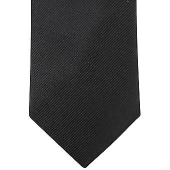 Diagonale de Knightsbridge Neckwear plaine striées cravate - noir