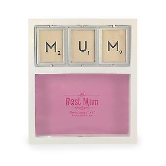 Мама роскошь Spinner белые фото рамка день матери, день рождения подарки TRIXES