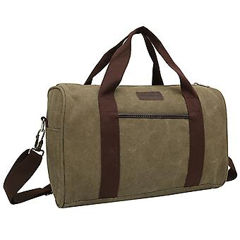 Olive-green exercise bag or weekendbags in durable fabric