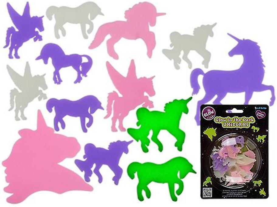 Glow in the Dark Unicorn Shapes (Pack of 14)