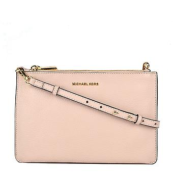 MICHAEL by Michael Kors Soft Pink Leather Large Clutch Crossbody