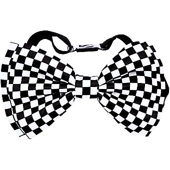Noeud papillon blanc/Black Check