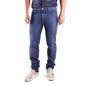 Marc Jacobs Ezbc062025 Men's Blue Cotton Jeans