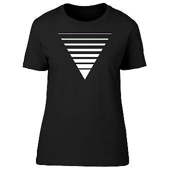 Weißes Dreieck In Minimal Art T-Shirt Herren-Bild von Shutterstock