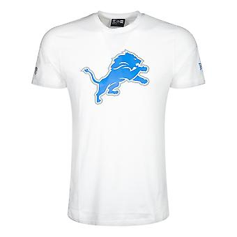 New Era NFL Detroit Lions White Team logo T-paita