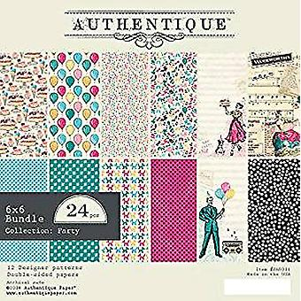 Authentique Party 6x6 Inch Paper Pad (PAR011)