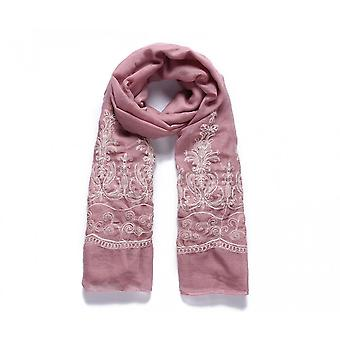 Intrigue Womens/Ladies Floral Design Embroidered Long Scarf