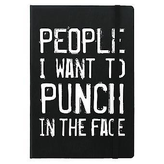 Grindstore folk jeg ønsker at punch i ansigtet A5 Hard Cover notebook