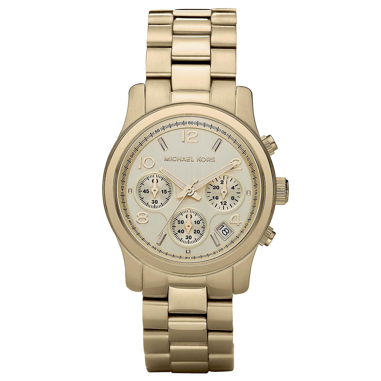 Michael Kors Mk5055 Ladies Gold Chronograph Watch