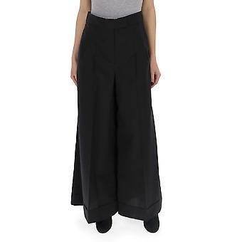 Brunello Cucinelli Mof79p6936c101 Women's Black Cotton Pants