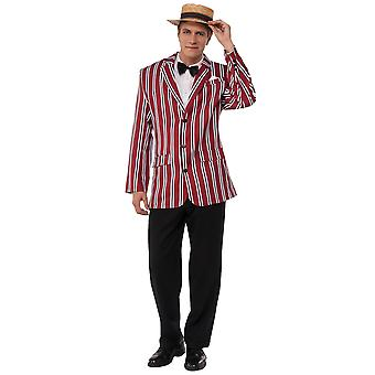 Good Time Sam 1920s Jolly Barbershop Henley Boater Club Blazer Mens Costume