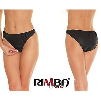 Rimba Lingerie' Ladies Leather Zip Brief (R118)