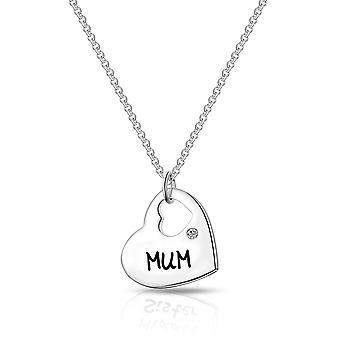 Mama Herz Halskette erstellt mit Swarovski® Kristallen