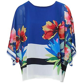 Frank Lyman Tropical Print pure Batwing losse top
