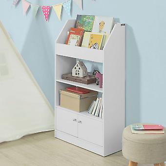 SoBuy weiß Holz Kinder Kids Storage Display Bücherregal Schrank KMB11-W