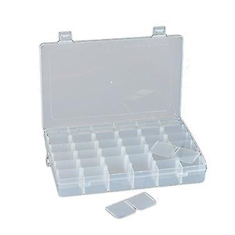 Multi-Purpose 36 Compartments Adjustable Plastic Storage Box/ Jewel Case/ Tool Container - Clear