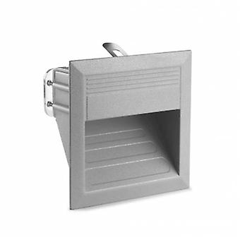 Led Outdoor Square Wall Light Grey Ip65
