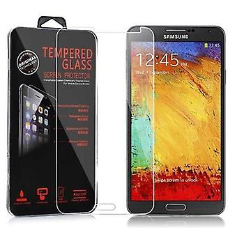 Cadorabo Tank Film for Samsung Galaxy NOTE 3 - Tempered Display Protective Glass in 9H Hardness with 3D Touch Compatibility