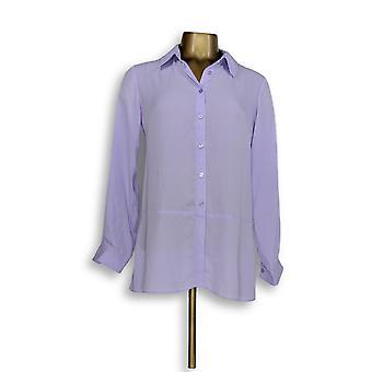 Joan Rivers Classics collectie vrouwen ' s top XXS zijdeachtige blouse paars A288773
