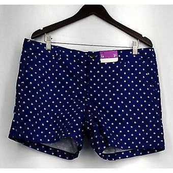 Merona Zipper & Button Closure Shorts w/ Pockets Blue Womens