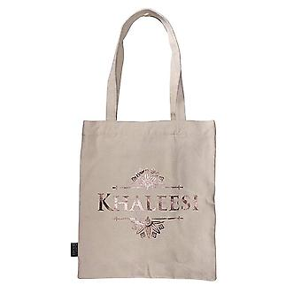 Game Of Thrones Tote Bag Khaleesi targaryen Logo new Official Beige Shopper