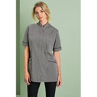 SIMON JERSEY Concealed Zip Black Striped Tunic