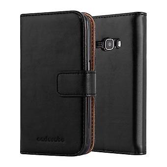 Hülle für Samsung Galaxy J1 2016 Klappbare Handyhülle - Cover - mit Standfunktion und Kartenfach