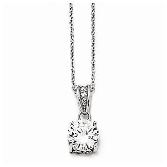 925 Sterling Silver Rhodium plaqué Fancy Lobster Closure et Gold Flashed 8mm X et O CZ Cubic Zirconia Simulated Diamon