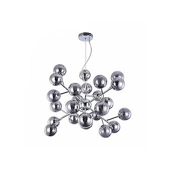 Maytoni Lighting Dallas Contemporary Chrome Star Style Pendant With Glass Bobbles