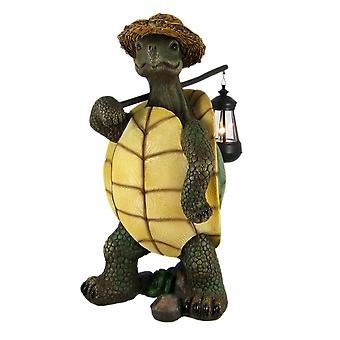 Funny Country Turtle W/ Lantern Statue Outdoor Figure