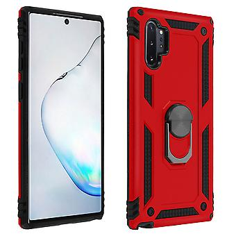 Samsung Galaxy Note 10 Plus Case Bi Material Rigid Soft Magnetic Ring Stand Rouge
