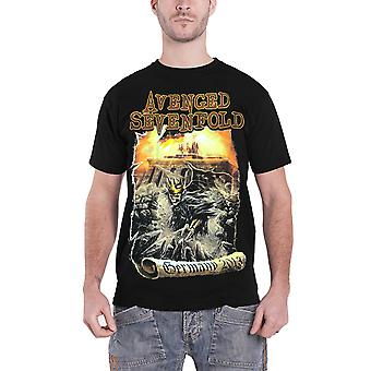 Răzbunat Sevenfold tricou Germania 2013 Band logo oficial Mens New Black