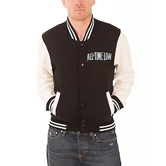 All Time Low Baseball Jacket band logo Sea Sick Official Mens New Black varsity
