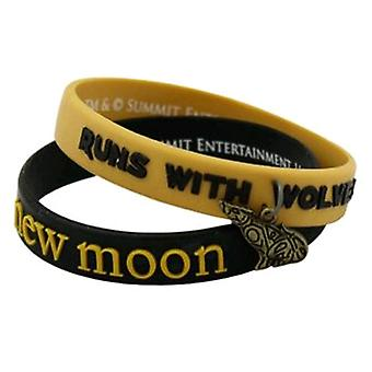 Twilight New Moon Jewellery Bracelet Rub Set Runs w/ Wolve