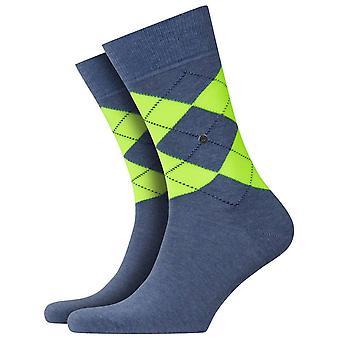 Burlington King Neon sokken-blauw/groen
