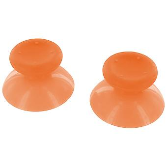 Concave analog thumbsticks grip sticks for microsoft xbox 360 controllers - 2 pack orange