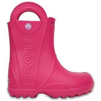 Crocs barn hantera det regn Boot Candy Pink