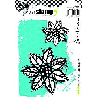 """Carabelle ستوديو """"مختلطة من الوسائط #1 قبل كوبسين البرقي"""" يتمسكون بالطوابع، الأبيض/شفافة، A6"""
