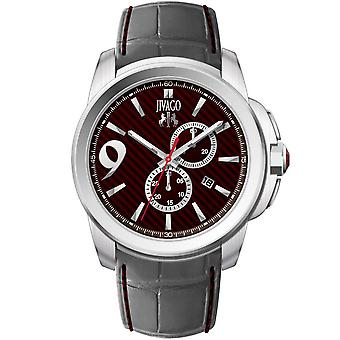 Jivago Men's Gliese Maroon Dial Watch - JV1516