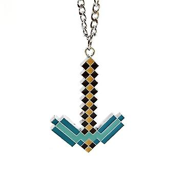 Minecraft Necklace - Diamond Pickaxe, 4 cm