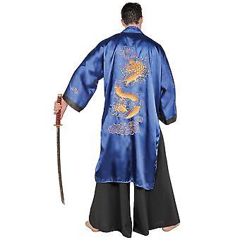 Samurai Japanese Warrior Master Martial Arts Asian Kimono Men Costume Plus 2XL