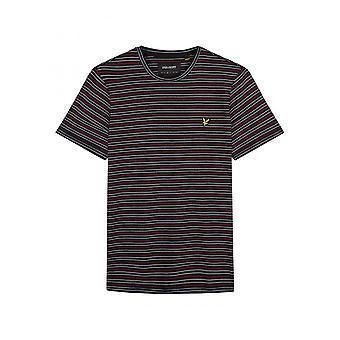Lyle & Scott Lyle Fine Stripe T Shirt True Black