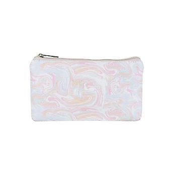 Jewelcity Dámske/Dámske mramorované pastel malý plochý make-up taška