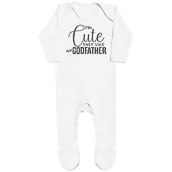 I'm Cute Just Like My GodFather Baby Romper