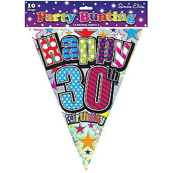 Simon Elvin Happy 30th Birthday Bunting (12 Feet)