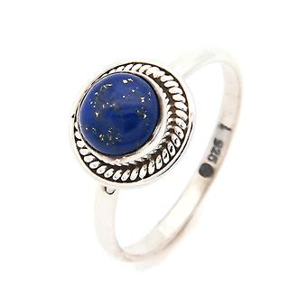 Lapis Lazuli Ring 925 Silver Sterling Silver Silver Women's Ring Blue (IRM 114-06)