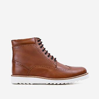 Mens redfoot gareth tan wedge boot