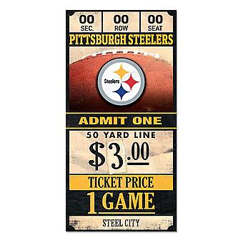 Wincraft NFL signo de madera TICKET Pittsburgh Steelers 30x15cm